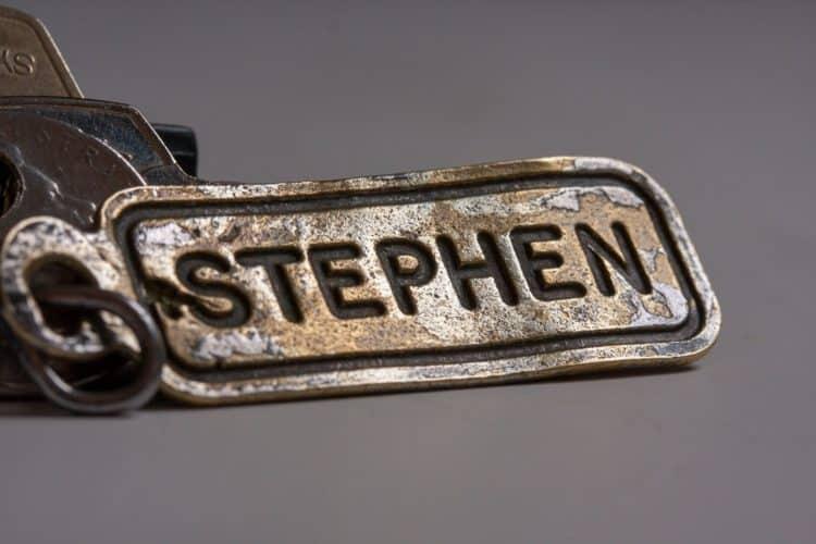 Stephen name tag