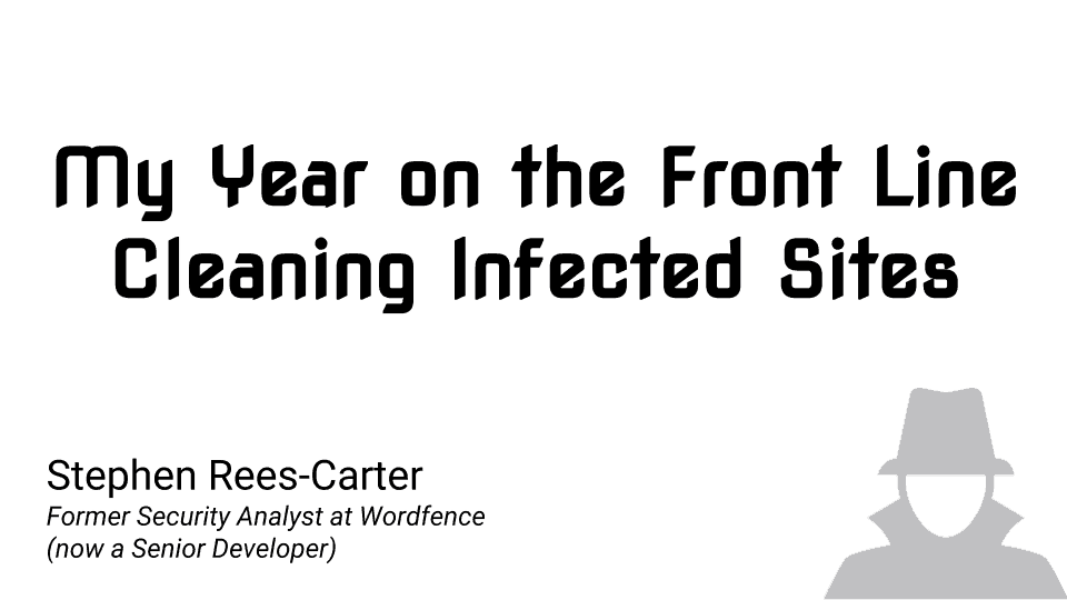 My Year on the Front Line, Cleaning Infected Sites